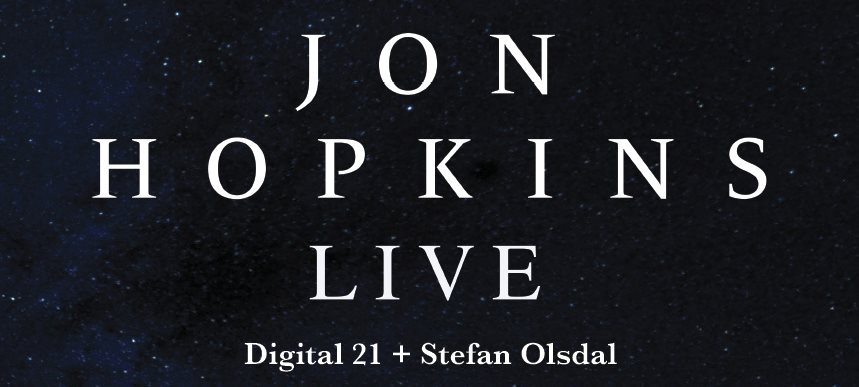 "Jon Hopkins presentará ""Singularity"" en Madrid"